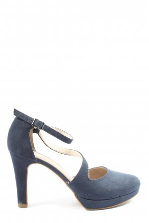 s.Oliver Hochfront-Pumps blau Business-Look