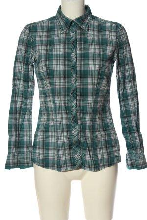 s.Oliver Koszula w kratę zielony-biały Na całej powierzchni W stylu casual