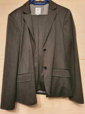 QS by s.Oliver Traje de pantalón gris oscuro
