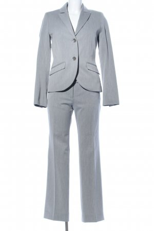 s.Oliver Trouser Suit light grey weave pattern business style