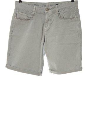 s.Oliver Hot Pants hellgrau Casual-Look