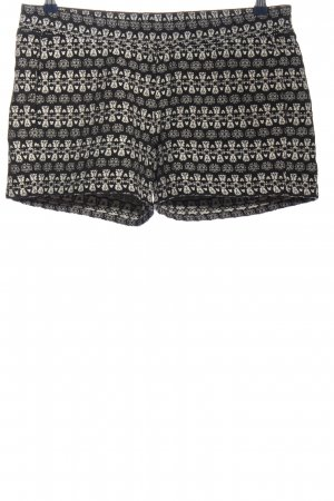 s.Oliver Hot Pants schwarz-weiß abstraktes Muster Casual-Look