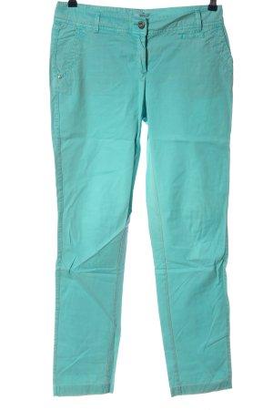 s.Oliver pantalón de cintura baja turquesa look casual