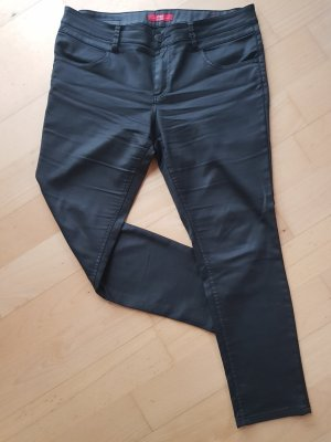 S.Oliver Jeans mit Coating schwarz Skinny