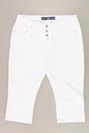 s.Oliver Jeansy 3/4 biały Bawełna