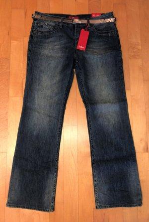 s.Oliver Jeans bootcut bleu-bleu foncé coton