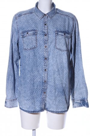 s.Oliver Denim Shirt blue allover print casual look