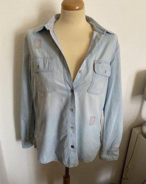 s. Oliver (QS designed) Camicia denim azzurro-blu pallido