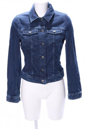 s.Oliver Jeansjacke blau Allover-Druck Casual-Look