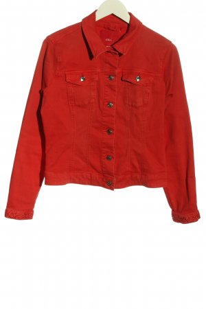 s.Oliver Denim Jacket red casual look