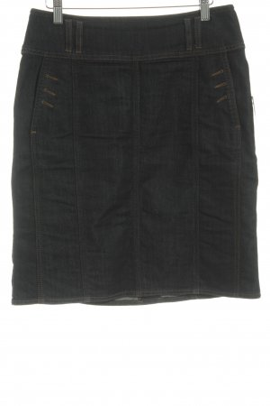 s.Oliver Denim Skirt dark blue-dark orange casual look