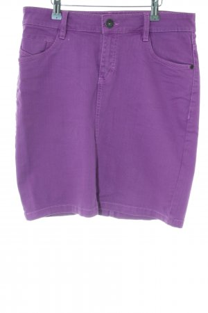 s.Oliver Denim Skirt lilac casual look