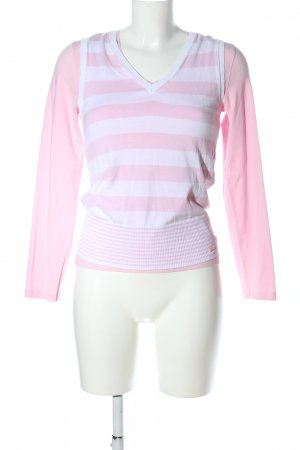 s.Oliver Jersey Twin Set pink-weiß Streifenmuster Casual-Look