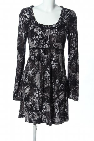 s.Oliver Jersey Dress black-white allover print casual look