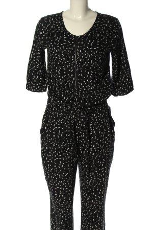 s.Oliver Jumpsuit schwarz-weiß abstraktes Muster Casual-Look