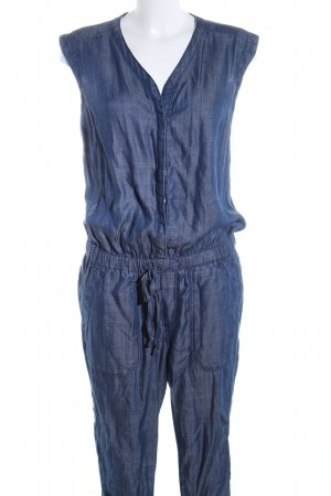 s.Oliver Jumpsuit blau Webmuster Casual-Look