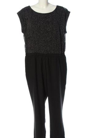 s.Oliver Jumpsuit schwarz-weiß Punktemuster Casual-Look