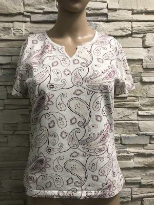 s.Oliver Batik shirt wit-paars