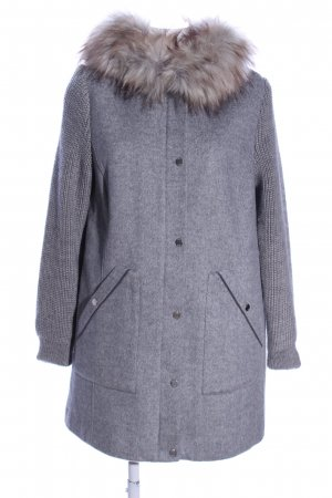 s.Oliver Hooded Coat light grey flecked casual look