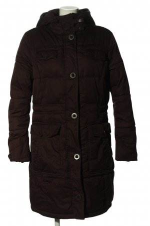 s.Oliver Manteau à capuche noir motif de courtepointe style décontracté
