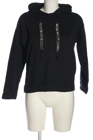 s.Oliver Kapuzensweatshirt schwarz Zopfmuster Casual-Look