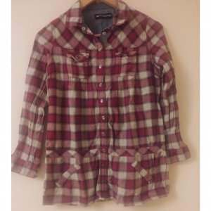 s.Oliver Checked Blouse white-purple