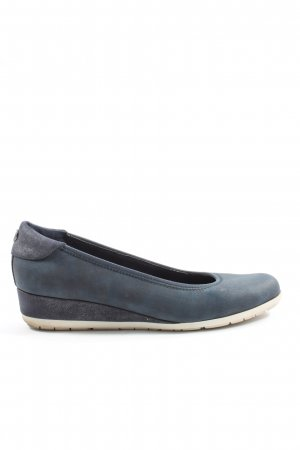 s.Oliver Keil-Pumps blau Casual-Look