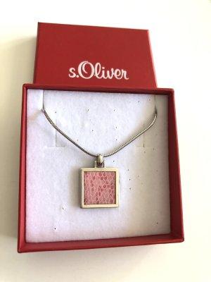 S.Oliver Kette Silber rosa