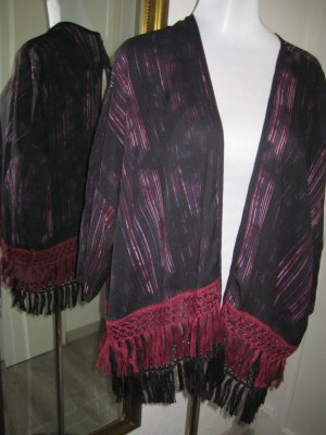 QS by s.Oliver Fringed Vest black-purple