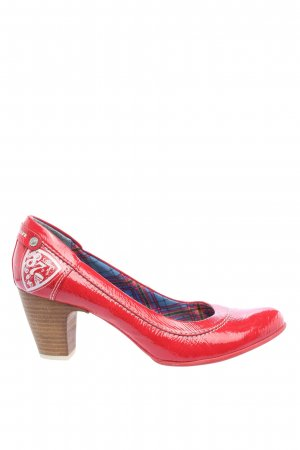 s.Oliver Klassische Pumps rot Motivdruck Casual-Look