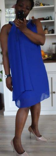 s.Oliver Sukienka koktajlowa niebieski-niebieski neonowy