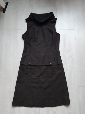 s.Oliver Woolen Dress black brown-cream