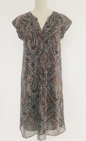 S.oliver Kleid paisley 40 l tunikakleid braun weiß schwarz