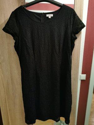 S.Oliver Kleid schwarz mit Spitze