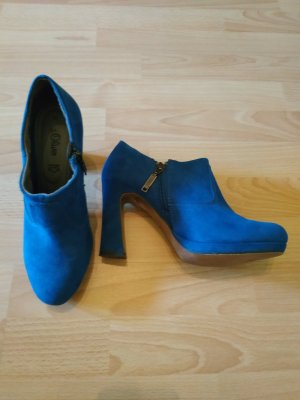 s.Oliver königsblaue Ankleboots, Gr. 40 wie neu