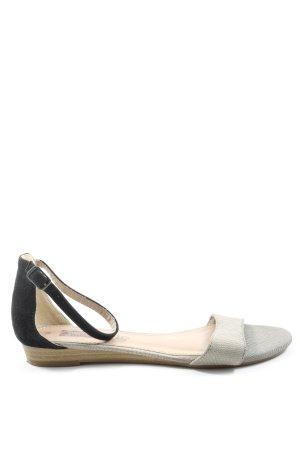 s.Oliver Sandales confort noir-gris clair style décontracté