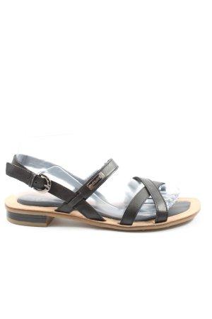 s.Oliver Komfort-Sandalen schwarz Elegant