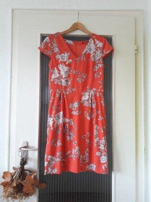 s.Oliver korallenfarbenes Sommerkleid Blumenkleid
