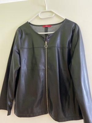s.Oliver Faux Leather Jacket black