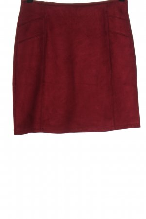 s.Oliver Faux Leather Skirt red casual look