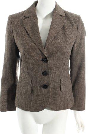 s.Oliver Short Blazer dark brown-beige flecked business style