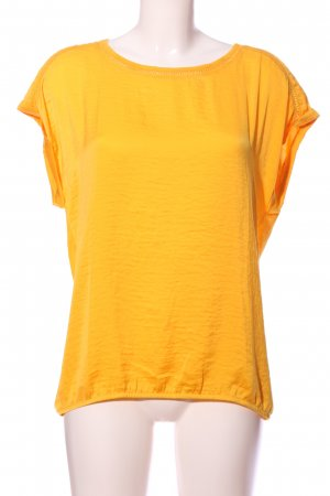 s.Oliver Kurzarm-Bluse hellorange meliert Casual-Look