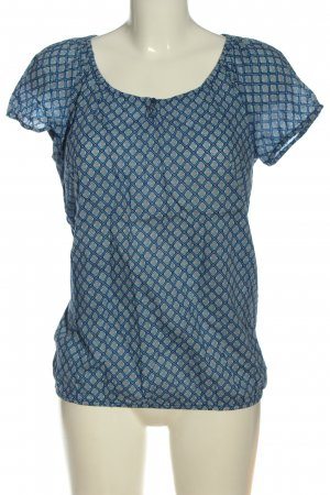 s.Oliver Kurzarm-Bluse Allover-Druck Casual-Look