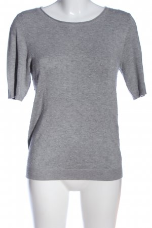 s.Oliver Kurzarm-Bluse hellgrau Allover-Druck Casual-Look