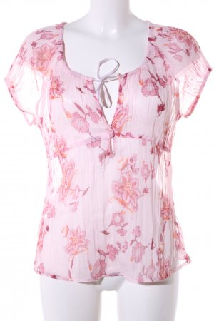 s.Oliver Kurzarm-Bluse pink Allover-Druck Casual-Look