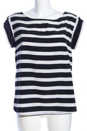 s.Oliver Kurzarm-Bluse schwarz-weiß Streifenmuster Casual-Look