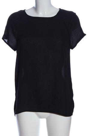 s.Oliver Kurzarm-Bluse schwarz Casual-Look