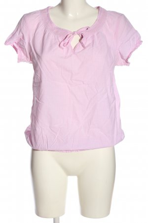 s.Oliver Kurzarm-Bluse pink-weiß Allover-Druck Casual-Look