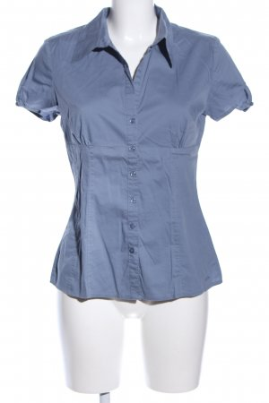 s.Oliver Kurzarm-Bluse blau Casual-Look