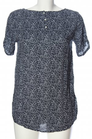s.Oliver Kurzarm-Bluse schwarz-weiß abstraktes Muster Casual-Look